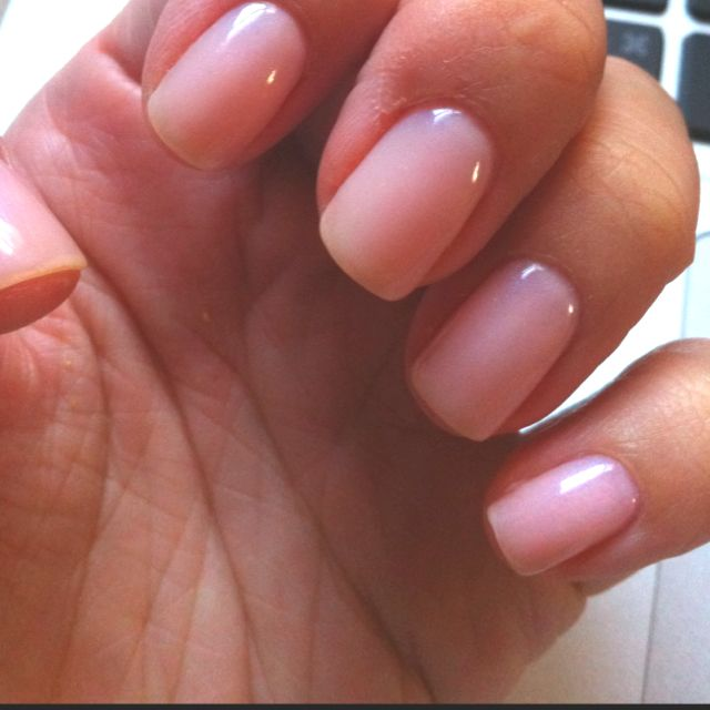 CND Shellac first layer Romantique topped by Beau - love.   There is a salon in Allen that provides this type of manicure.  It really is the best!!!
