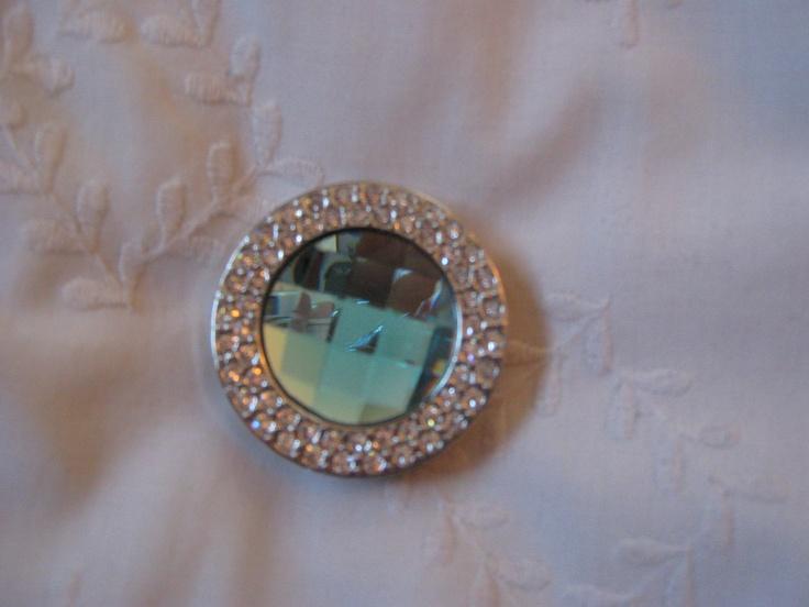Aqua purse hook from Hook-Her  Foldable purse clip  www.hook-her.net