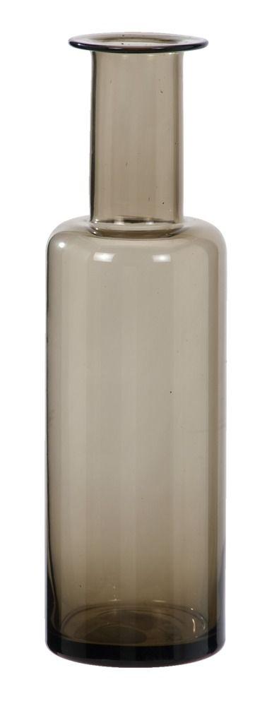 Druppelvaas Ava: stoere glazen vaas, in grijs en bruin verkrijgbaar #HomeLabel