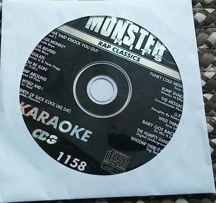 RAP CLASSICS KARAOKE CDG MONSTER HITS 1970'S-1990'S BABY GOT BACK HIP HOP MH1158 #monsterhits