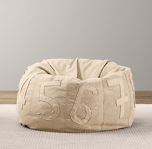 Recycled Canvas Number Bean Bag Bean Bags Restoration