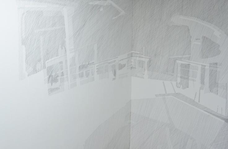 Obra de Amelia Campino, en la segunda estación de la galería en Talagante.