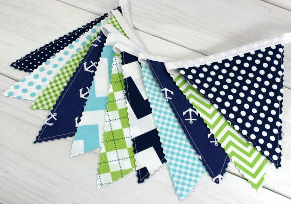 1000 images about boy nursery on pinterest bunting for Nautical nursery fabric