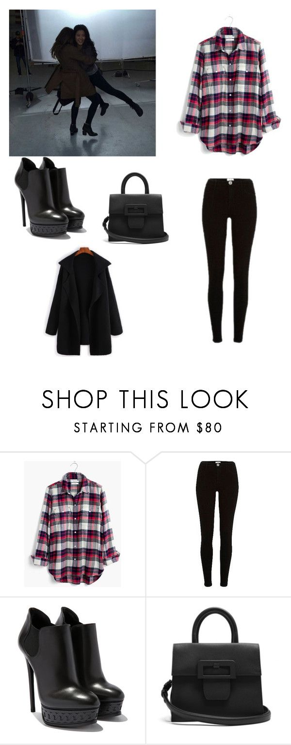 """""""Tournage de Scorpion"""" by anneso88 ❤ liked on Polyvore featuring Madewell, River Island and Maison Margiela"""