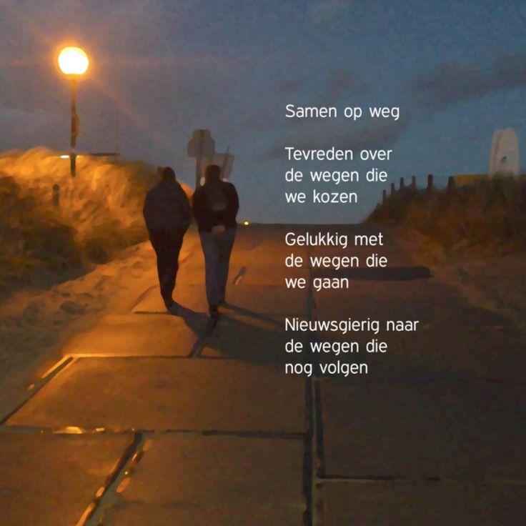 Samen op weg gedicht, verkrijgbaar bij #kaartje2go voor €1,79