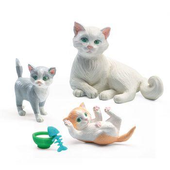 """Djeco Σετ κουκλόσπιτου """"Γάτες"""""""