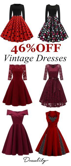 8d930b7a2d6 Vintage Dinner Date Dresses.  dresslily  datedress  valentines ...