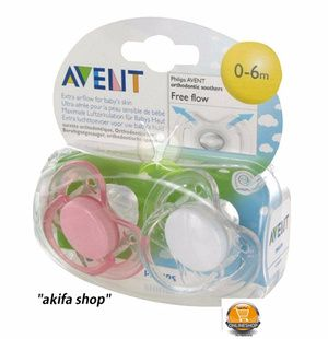 Avent Soother Free Flow 0-6 M / empeng Baby isi 2pcs