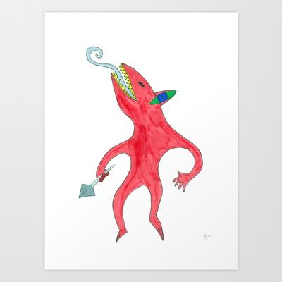 Daemon Art Print by Plasmodi - $17.00