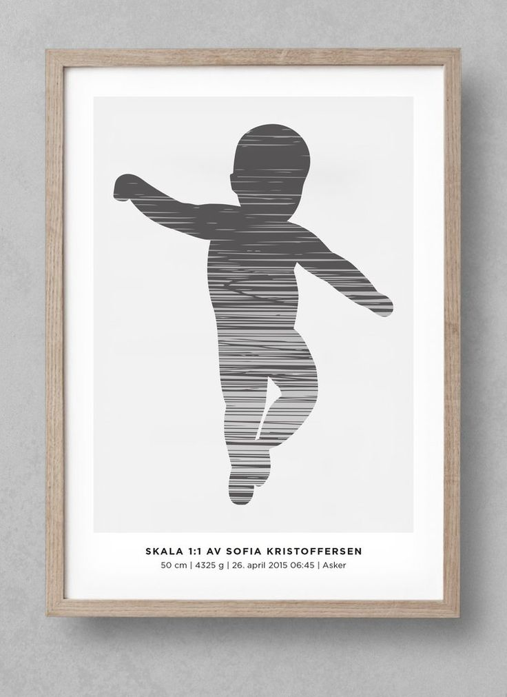 """""""Shade"""" newborn poster! Customize your unique birthposter at www.fodselsplakat.no and get a beautiful memory for how big your baby actually was when it was born! Free shipping worldwide. Comes in many different colors!"""