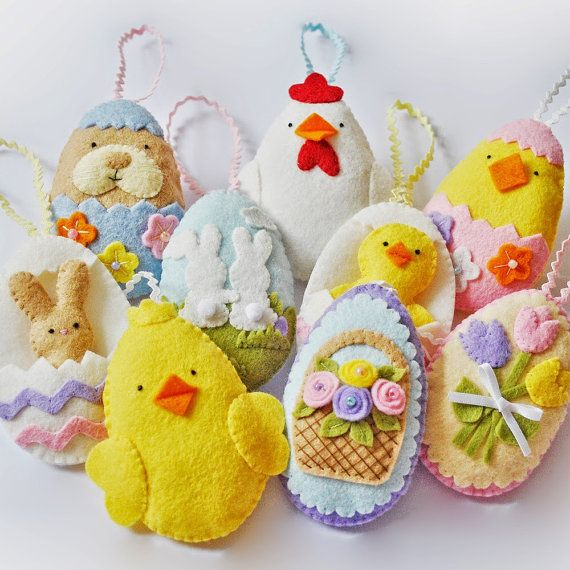 This PDF file is to make a set of 9 Super cute Easter eggs as shown in the main photo.  **IMPORTANT. This item is a digital file, NOT a finished
