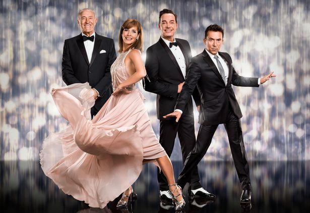 TV judges Len Goodman, Darcey Bussell, Craig Revel Horwood, Bruno Tonioli