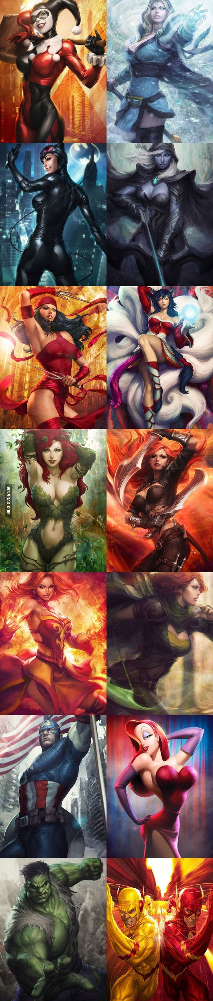 Some Badass Characters Drawn In A Badass Way!