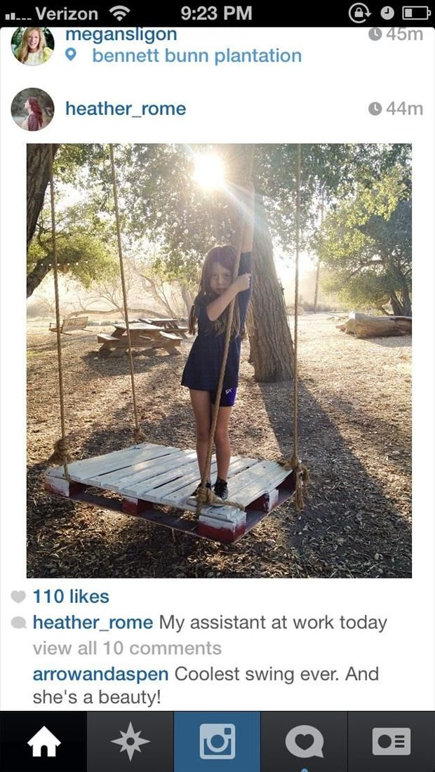 coolest swing ever  old pallet ideas (12)