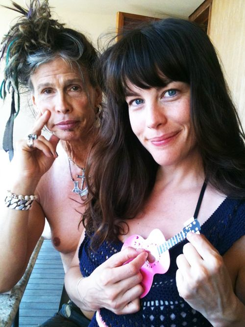 Liv and Steven Tyler .... i sold a piece of jewelry that went on his hat.. which isspecial to me casue i love him :)