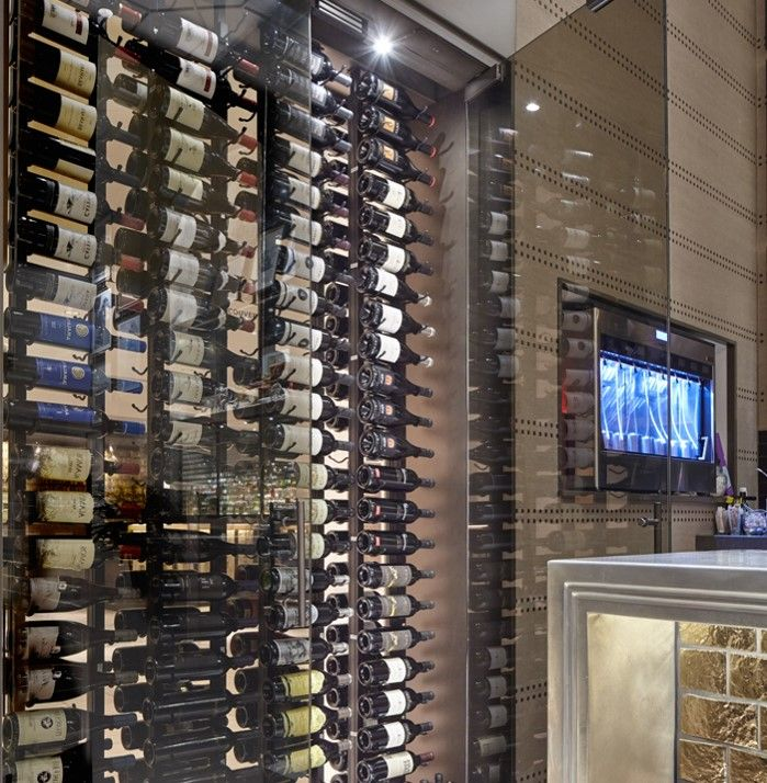 Fairmont Hotel Vancouver Wine Display Wall Commercial