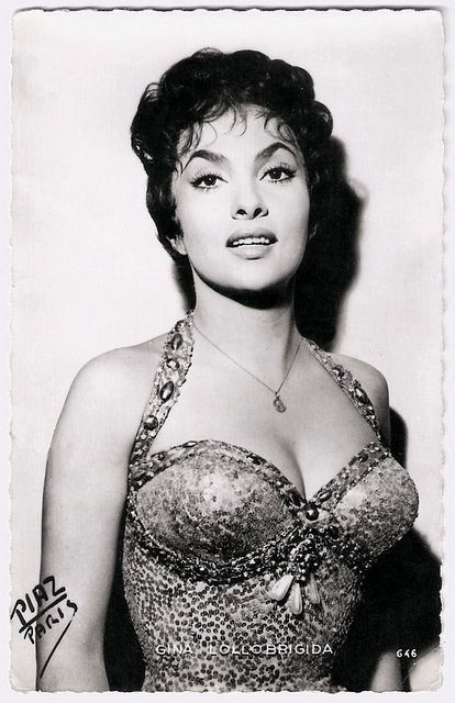 Italian actress and photojournalist Gina Lollobrigida (1927), was one of Europe's most prominent film stars of the 1950's. Description from pinterest.com. I searched for this on bing.com/images
