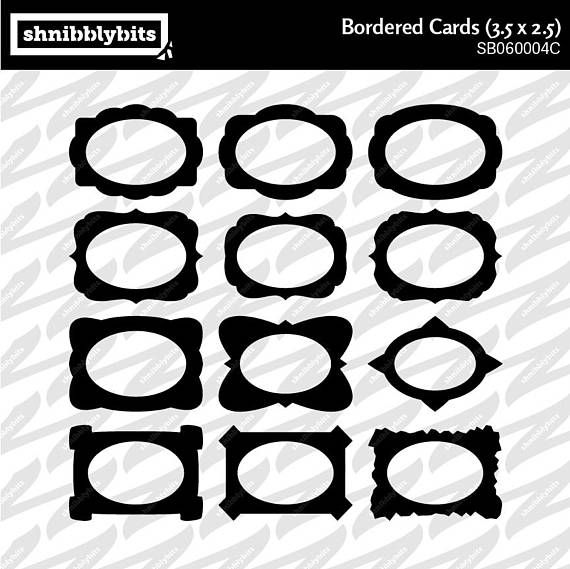 24 Bordered Card Cutouts