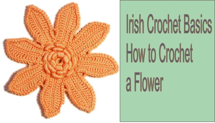 How To Crochet Flowers Thick Petals Tutorial 44 : 17 Best images about Flowers and etc. - 8 petals on ...