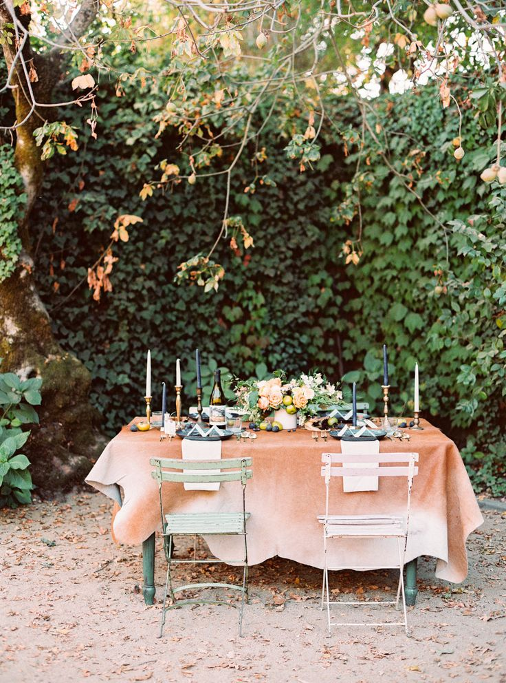 Bohemian Jewel Toned Wedding Inspiration | The Blog | Pieces by Violet - Vintage Rentals