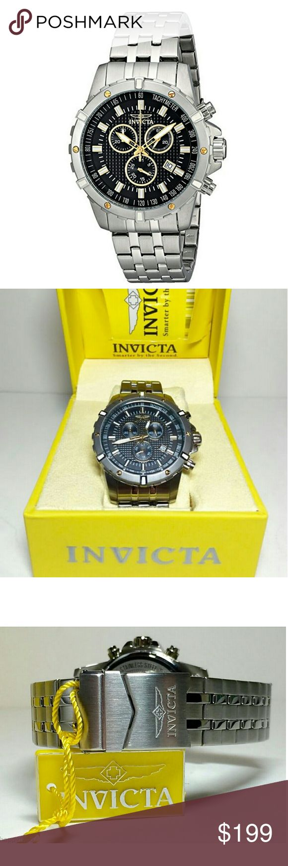 NWT Invicta $600 chronograph men's watch INVICTA  Invicta $600 Chronograph Black Dial Mens Watch.    Firm price firm price firm price firm price?  $229.00  . AUTHENTIC WATCH  . AUTHENTIC BOX  . AUTHENTIC MANUAL    SHIPPING?  PLEASE ALLOW FEW BUSINESS DAYS FOR ME TO SHIPPED IT OFF.I HAVE TO GET IT FROM MY WAREHOUSE.    THANK YOU FOR YOUR UNDERSTANDING. Invicta Accessories Watches