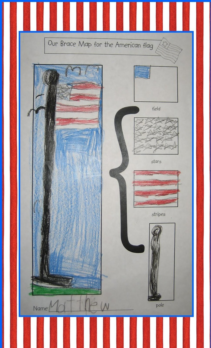 flag brace map: Kindergarten February, American Flags Lessons, Grade Social, Education Ideas, American Symbols, Kindergarten Crayons, Lessons Ideas, Braces Maps, Flags Braces