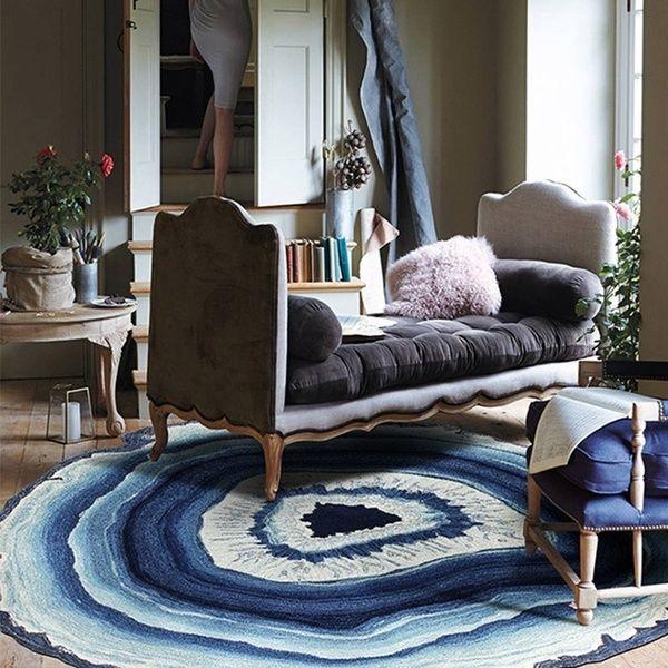 Anti-Skid Geode Rock Floor Rug Dining Living Room Bedroom Carpet Floor Mat 2019