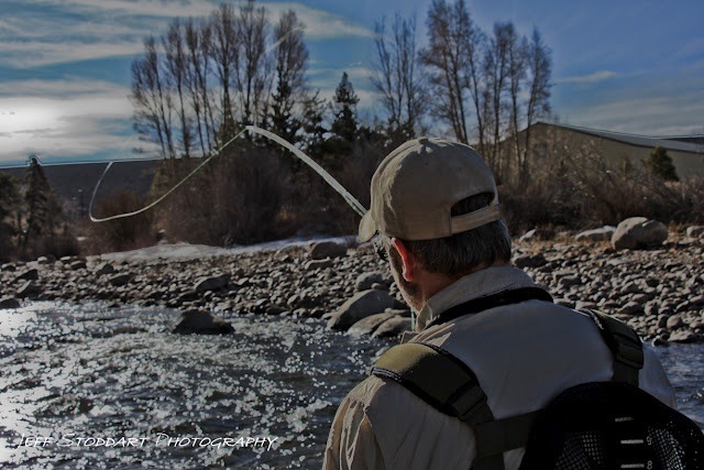 Fly fishing on the Blue River - Silverthorne, Co