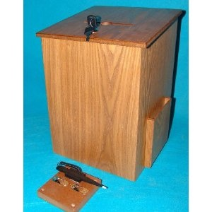Large Wood Suggestion Box Charity Donnation Fund-raising Box Ballot Box Collection Box Medium Oak $30