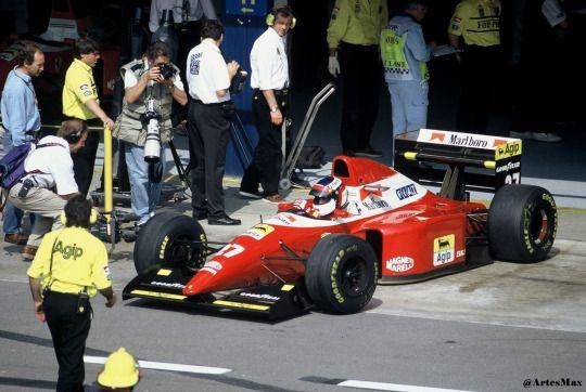 Jean Alesi (Ferrari) Grand Prix d'Espagne - Circuit de Catalogne 1993
