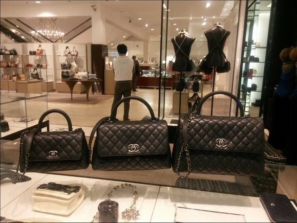Chanel Black Coco Handle Mini Small Medium Bags   boutique in 2019    Pinterest   Chanel coco handle, Chanel and Bags 77fe553ee8