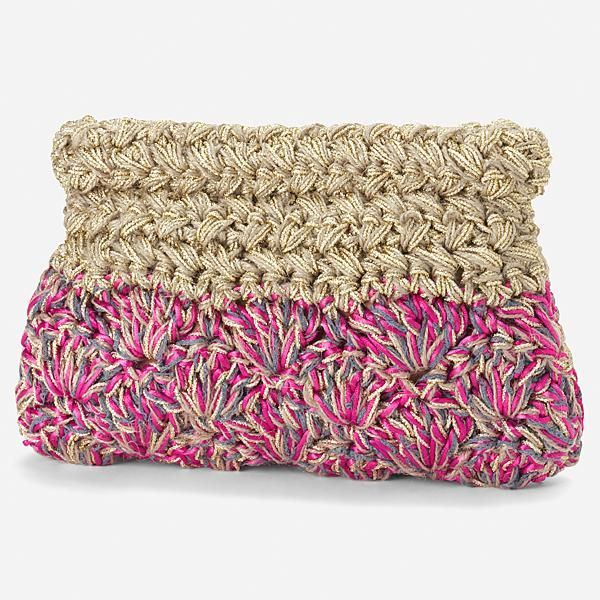 nano universe crochet clutch bag #crochetpurse #crochet