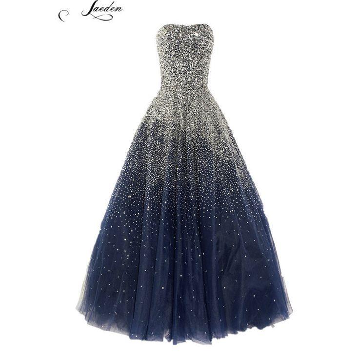 cool Tendance robes de soirée : L295 mode bleu noir perles luxuru longues robes de soirée 2015 femmes formelles du parti de bal robes taille personnalisée , plus la taille dans Robes de soirée de Mariages et événements sur AliExpress.com | Alibaba Group