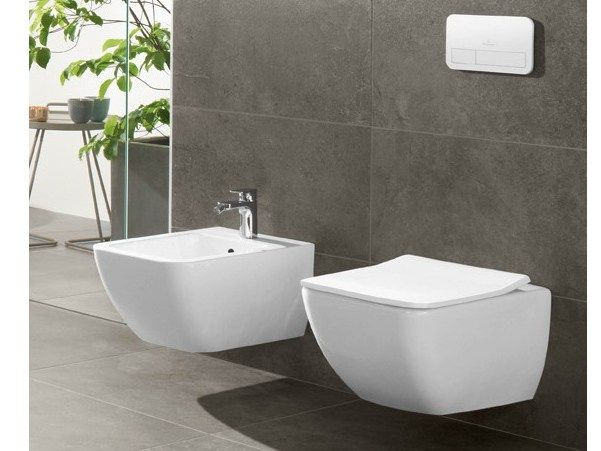 Wall-hung ceramic bidet Venticello Collection by Villeroy