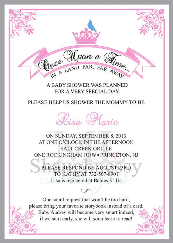 25 princess baby shower invitations with by mlshaughnessydesigns baby