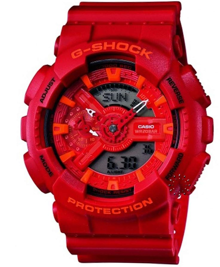 CASIO G-Shock Red Rubber Strap Τιμή: 150€ http://www.oroloi.gr/product_info.php?products_id=34540