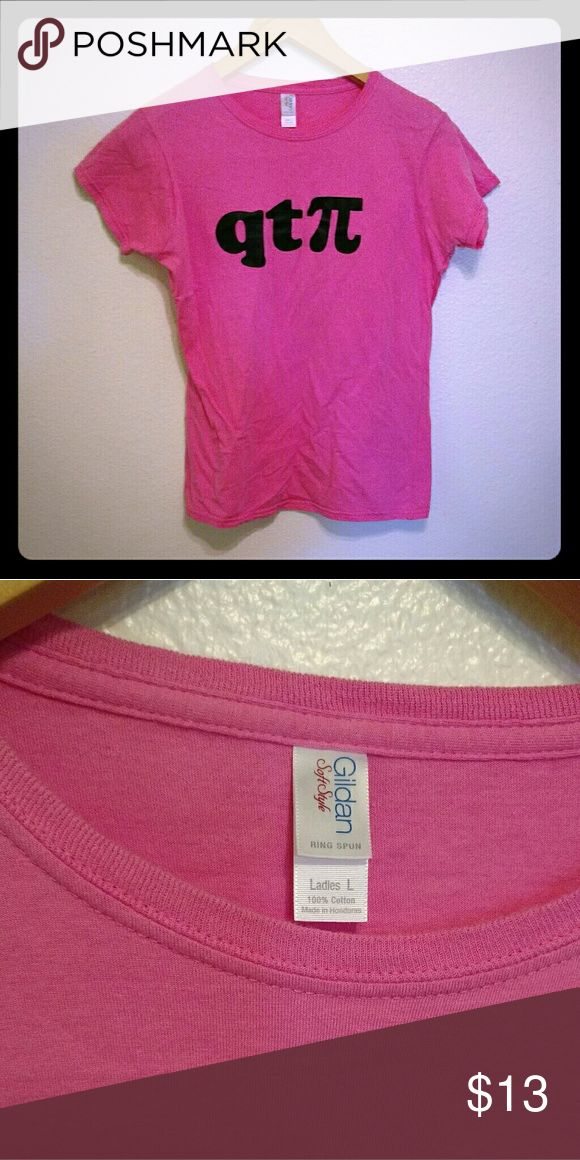 qt? (Cutie Pie) Pink Tee - NWOT Adorable pink baby tee in soft cotton with a clever message for math and science enthusiasts-- great for ladies interested in STEM fields and subjects! New without tags; never worn. Tops
