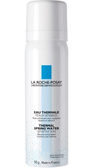 La Roche-Posay Thermal Spring Water. To keep her skin supple, LA-based derm Jessica Wu, MD, sprays it several times daily with La Roche-Posay Thermal Spring Water. (She often spritzes her face when stuck in traffic!) Bonus: The water is packed with minerals like selenium that protect against UV damage.