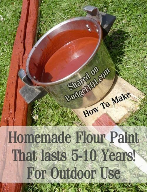 MYO Simple Homemade Flour Paint for fences, barns, etc- lasts 5-10 years!