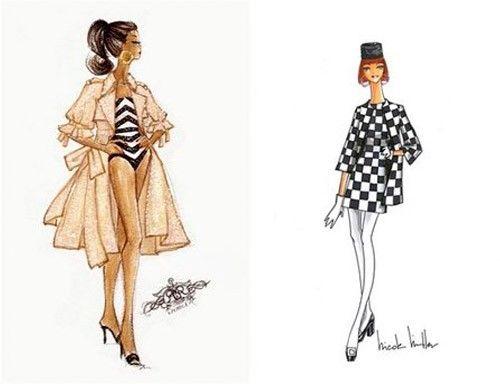 Sneak Peek: Barbie Fashion Show Sketches Rachel Roy / Nicole Miller.  nitrolicious.com