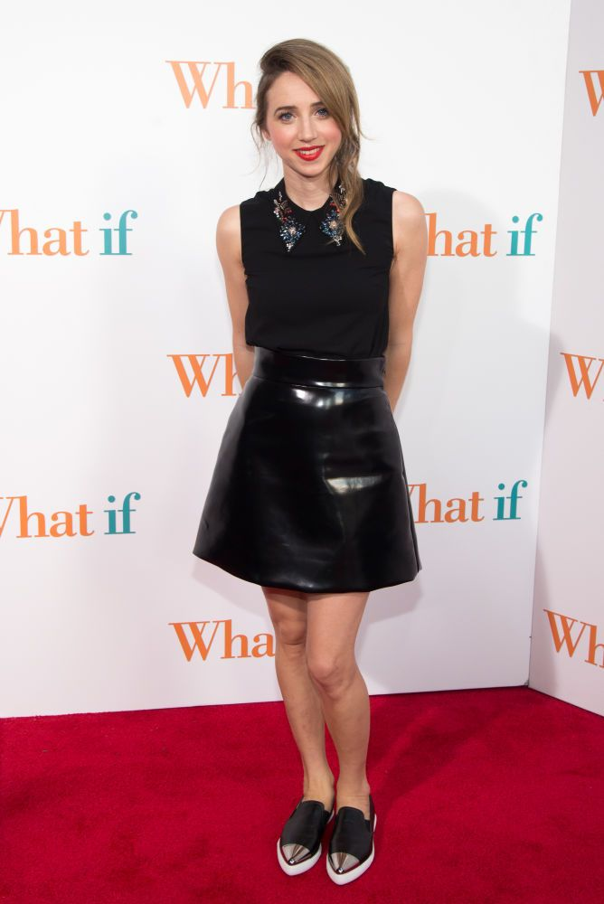 "Zoe Kazan in Miu Miu the ""What If"" New York Premiere. Photo: Mike Pont/FilmMagic"