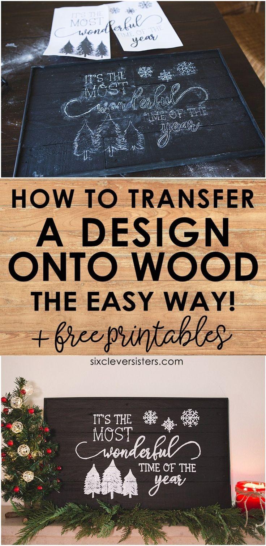 So übertragen Sie ein Design auf Holz