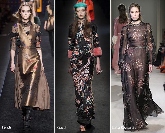 Fall/ Winter 2016-2017 Fashion Trends: Chinoiserie Motifs