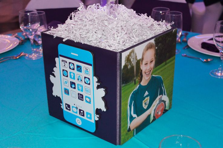 Iphone App Cube Centerpiece - BAT MITZVAHS