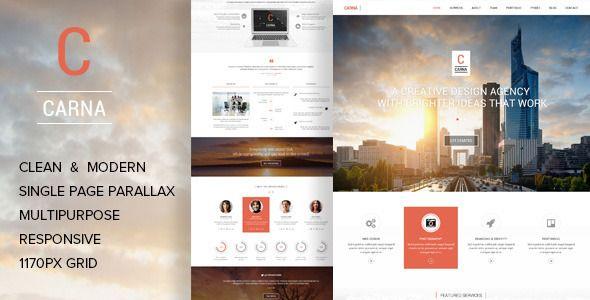 Carna   Multi-Purpose Parallax PSD Landing Page