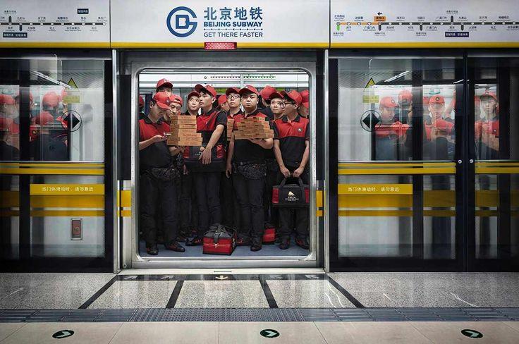 Beijing Subway: Pizza