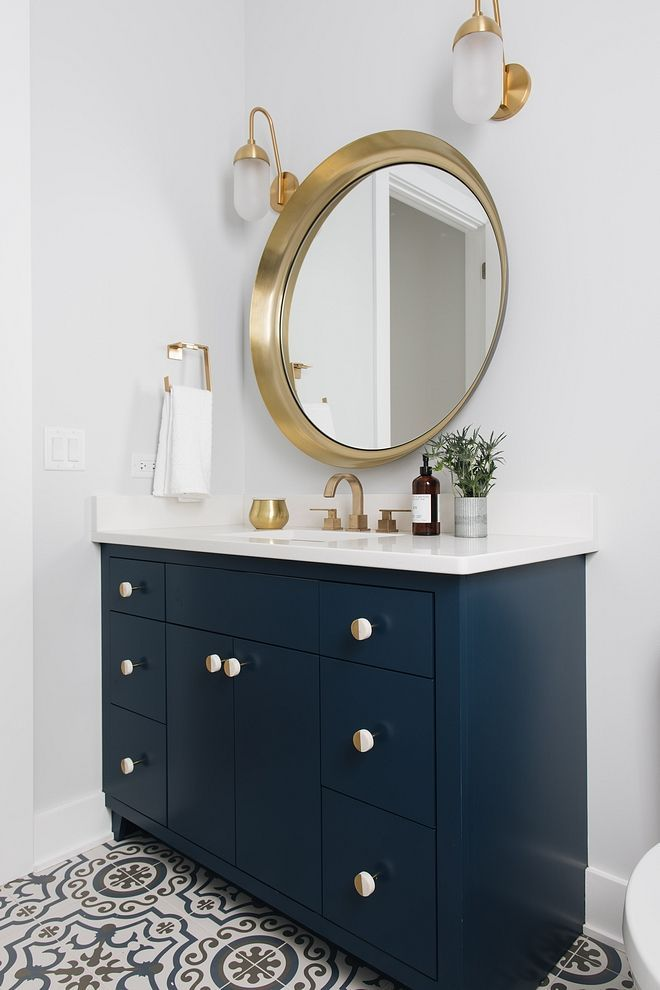 Naval By Sherwin Williams Navy Bathroom Cabinet Paint Color Naval By Sherwin Williams Navy Blue Paint Colors Bathroom Cabinet Colors Painting Bathroom Cabinets