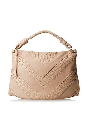62% OFF Christopher Kon Women's Bethani Woven Hobo, Sand