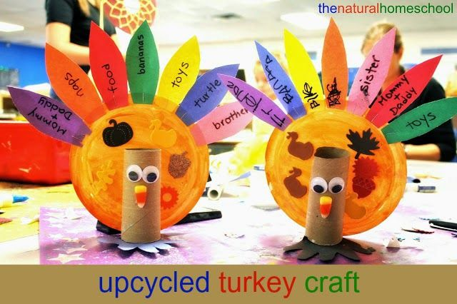The Natural Homeschool: Upcycled Turkey Craft for Thanksgiving