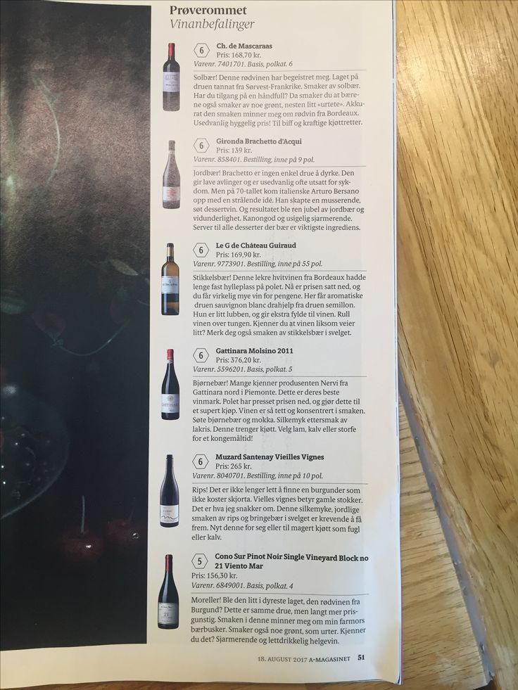 Viner egnet for å øve luktesansen